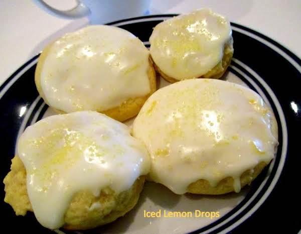 ~ Iced Lemon Drop Cookies ~ Recipe