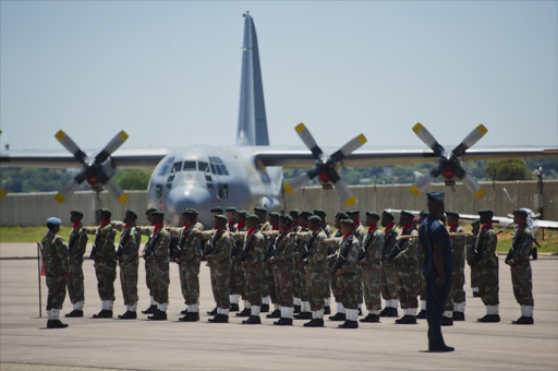 Members of the SANDF during the Mandela Commemoration Medal Parade at the Waterkloof Airforce Base on December 7, 2014 in Pretoria, South Africa. File photo.