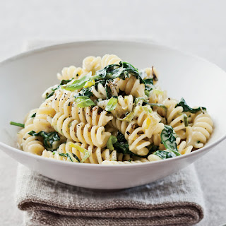 Fusilli with Creamed Leek and Spinach Recipe