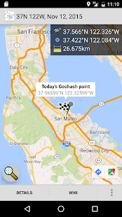 Geohash Droid – Miniaturansicht des Screenshots