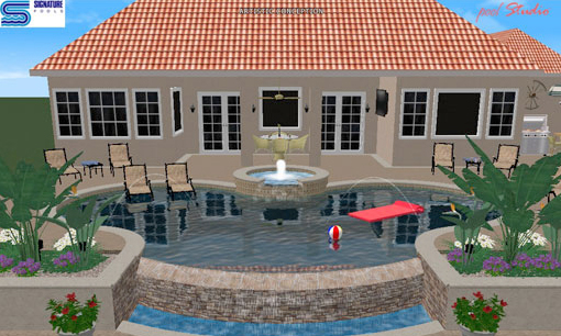 Photo: Interactive 3D Rendering of your New Pool, Signature Pools, Orlando