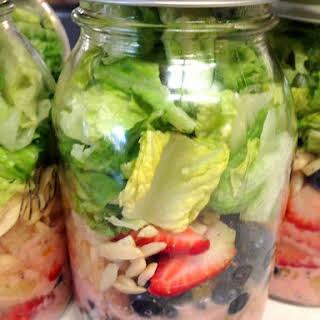 Strawberry Poppyseed Mason Jar Salads.