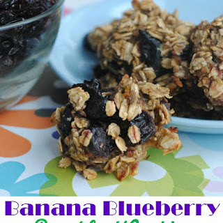 Banana Blueberry Oatmeal Breakfast Cookie