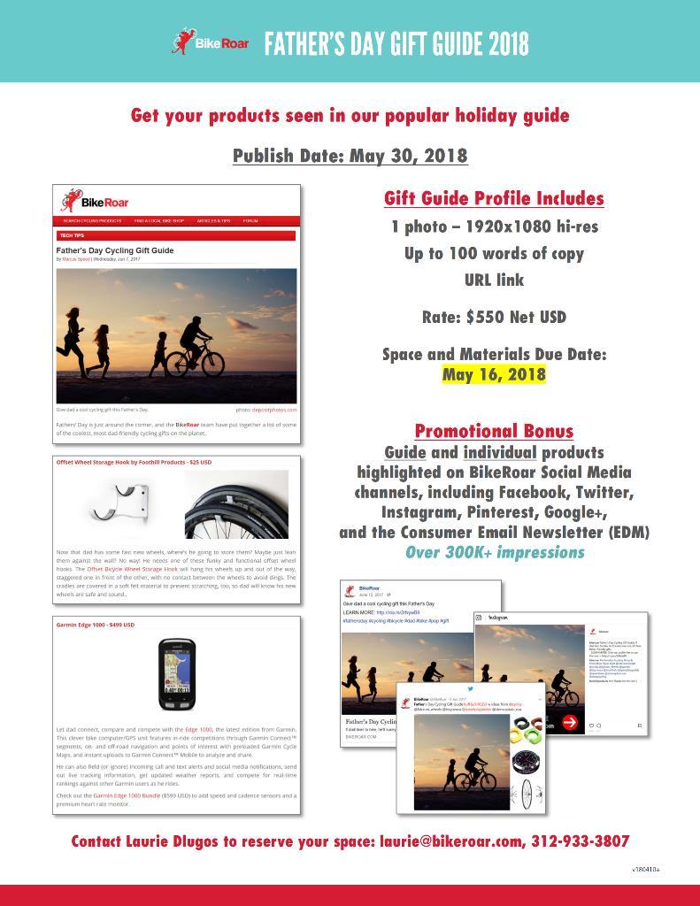 Father's Day Gift Guide 2018 - BikeRoar