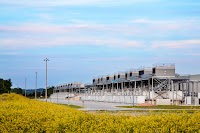Wildflowers bloom around cooling towers at our Council Bluffs, Iowa data center.