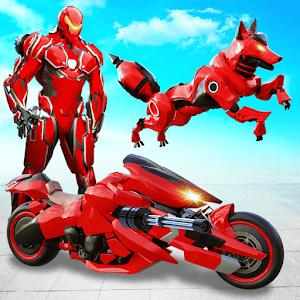 Wild Fox Transform Bike Robot Shooting: Robot Game Online PC (Windows / MAC)