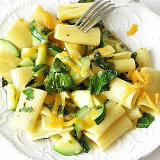 Easy Zucchini Kale Pasta.