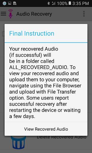 Audio Recovery screenshot 4