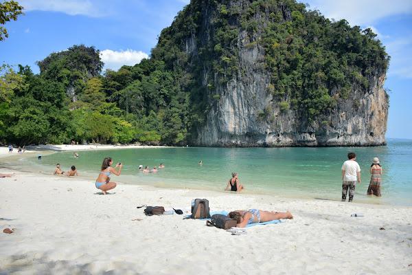 Beach time at Hong Island