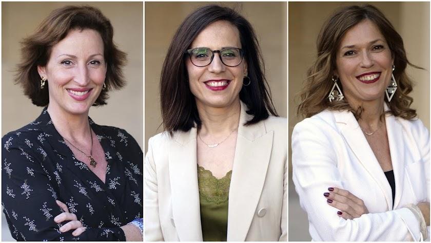 María Vázquez, Margarita Cobos y Ana Martínez Labella.