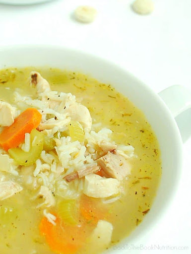 20 Minute Rotisserie Chicken and Rice Soup