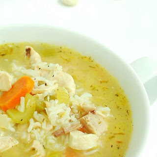 20 Minute Rotisserie Chicken and Rice Soup.