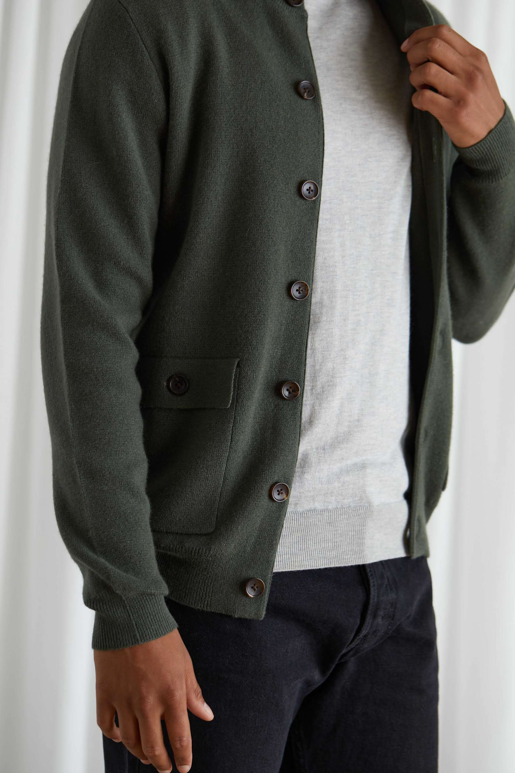 Man Buttoned Jacket