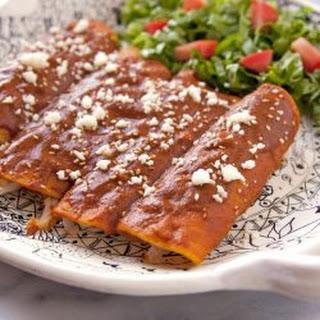 Chicken Mole Enchiladas.