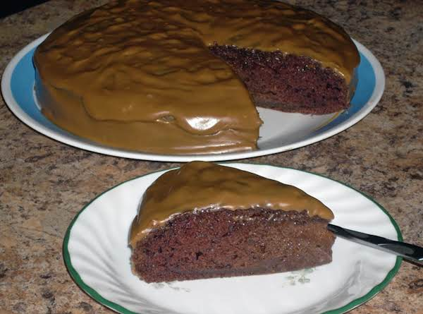 Chocolate Cake With Caramel Icing