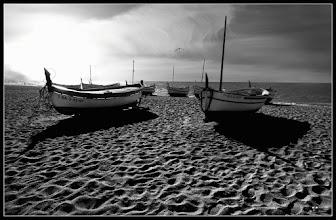 Photo: Calella This photo was taken last weekend. The boats on the sand with a hard back-lighting #breakfastclub  #breakfastartclub  #plusphotoextract by +Jarek Klimek