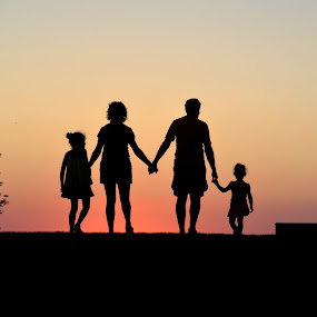 Family is Everything by Michael Smith - People Family ( love, parents, family, sunset, joy, people, together,  )