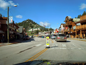 Photo: Souvenir town down the road from Rushmore