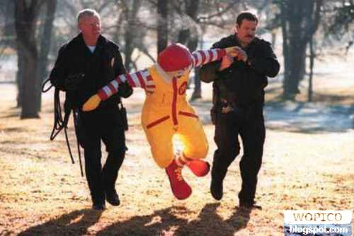 Busted Ronald McD