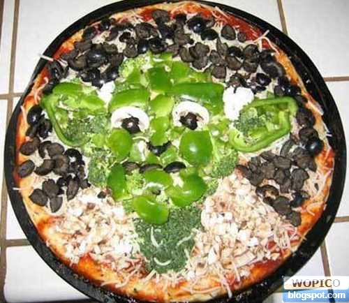 Face in the Pizza