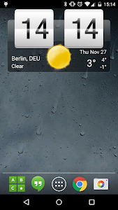 Sense Flip Clock & Weather Pro screenshot 0