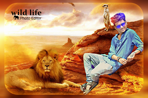 Wild Animal Photo Editor Wild Animal Photo Frame By Green Lab