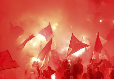 🎥 Lekkere beelden uit Hongarije: tegenstander Standard is er nu al klaar voor, wat een viering!