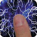 Electric screen simulator: touch for lightning art icon