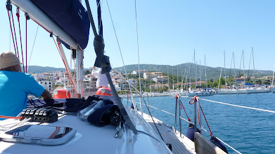 Photo: Arriving at Skopolos port