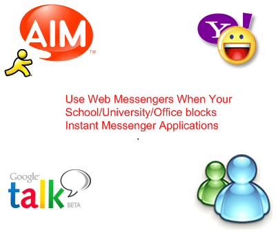 Access Blocked AIM/Google Talk/Yahoo Messenger/MSN Messenger At Your Office, School or University - Image