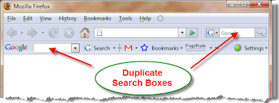 Firefox Duplicate Search Boxes
