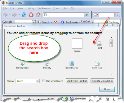 Removing Firefox Duplicate Top Right Side Search Box - 2