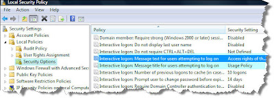 Windows Vista Trick - Configuring a custom logon message