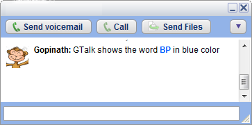 Image:GTalk chat window shows BP in blue color