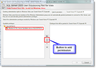 CREATE DATABASE Permission Denied - SQL Express 2005 - Image 2