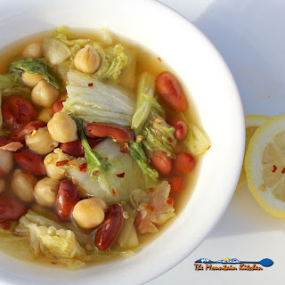 Napa Cabbage and Bean Soup.