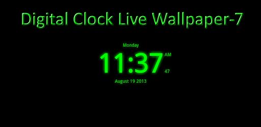 Digital Clock Live Wallpaper 7 Apps On Google Play