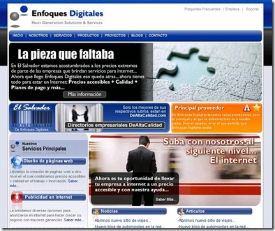 Paginas web en El Salvador / Enfoques Digitales
