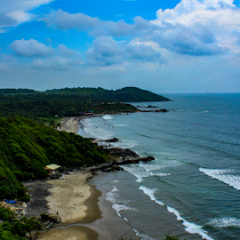 Shoreline by Ajith Iddya - Landscapes Beaches ( seascape, beach, shoreline, water, sea,  )