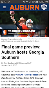 SEC Country:Team-Specific News- screenshot thumbnail