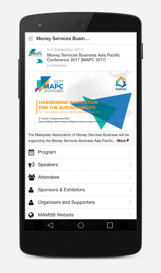 Money Services Business Asia Pacific Conference- screenshot