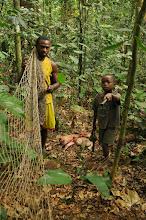 Photo: setting a net