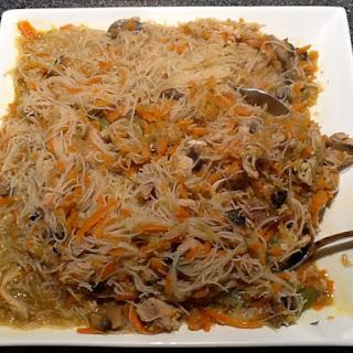Filipino Style Rice Noodle Dish.