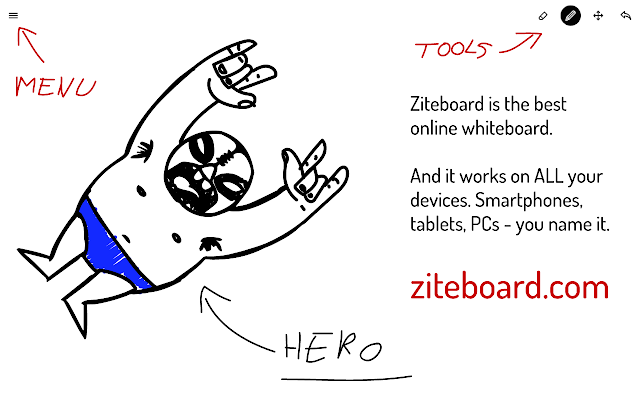 Ziteboard - zooming collaboration whiteboard
