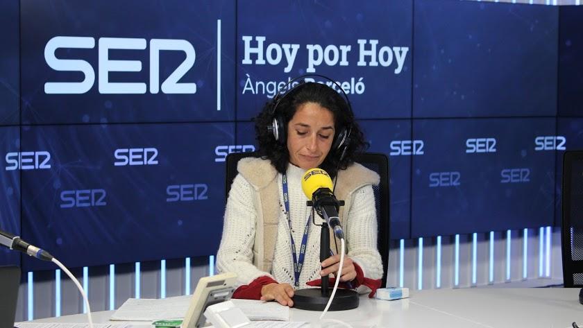 Patricia Ramírez, durante una entrevista en la Cadena SER.