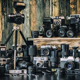 Film by Christian Tiboldi - Artistic Objects Technology Objects ( canon, porst, polaroid, agfa, pentax, nikon, revueflex,  )