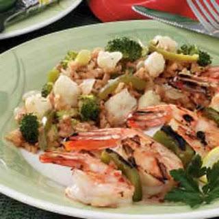 Broccoli and Cauliflower Rice Medley.