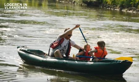 Kano varen op de Demer