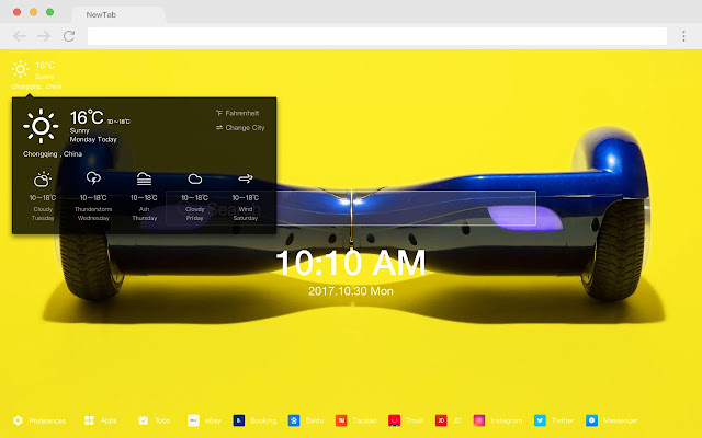Hoverboard HD Wallpapers New Tabs Tools Theme