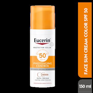 Crema EUCERIN Sun Creme   facial Color fps 50+ x50ml